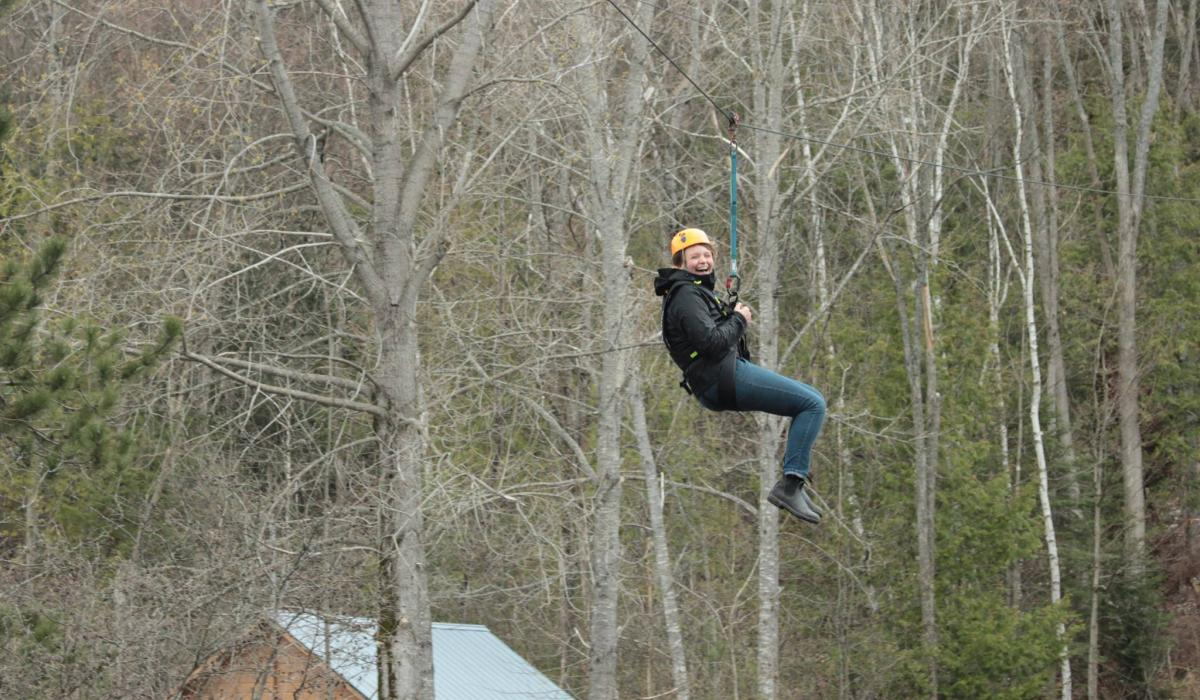 see the Haliburton from the tree tops with our high 5 adventue