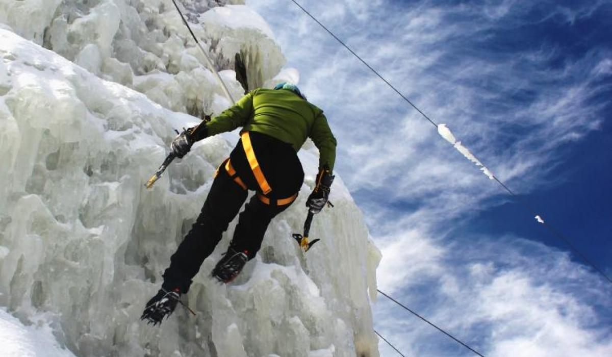 ice climbing adventures with Basecamp 35