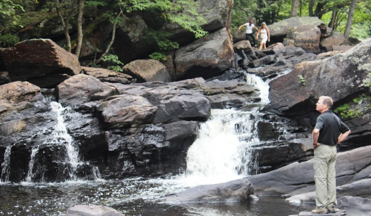 Exploring High Falls in the Haliburton Highlands in Canada