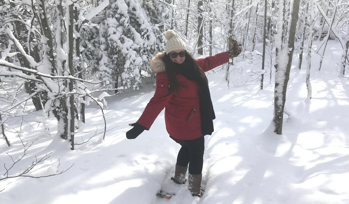snowshoe, outdoors, activities, Haliburton, winter, snowshoeing