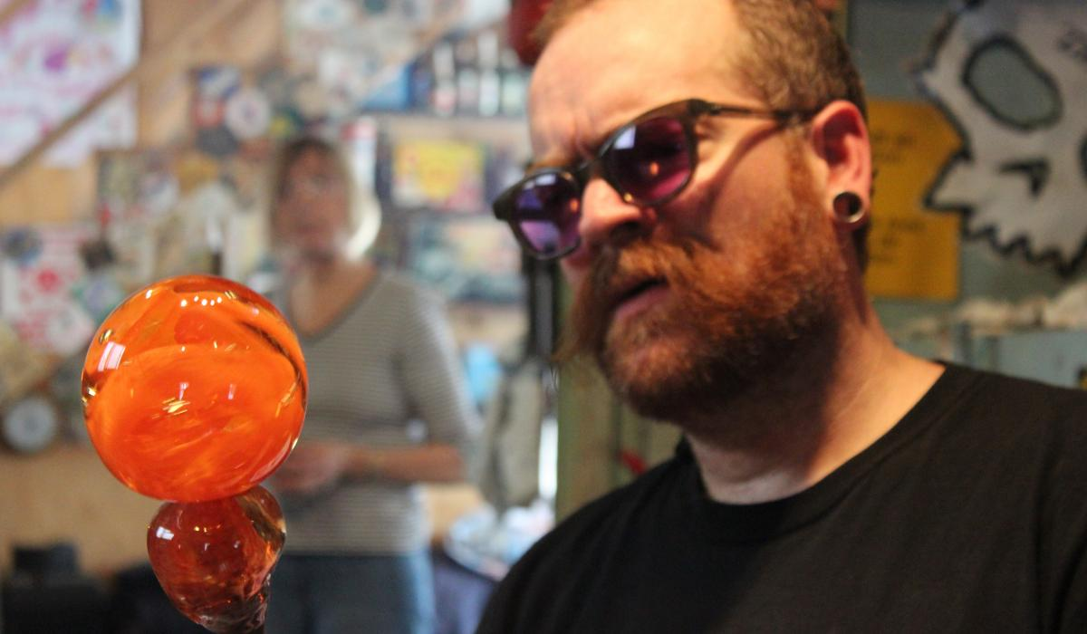 Terry Craig will teach you how to blow glass at Artech Studios