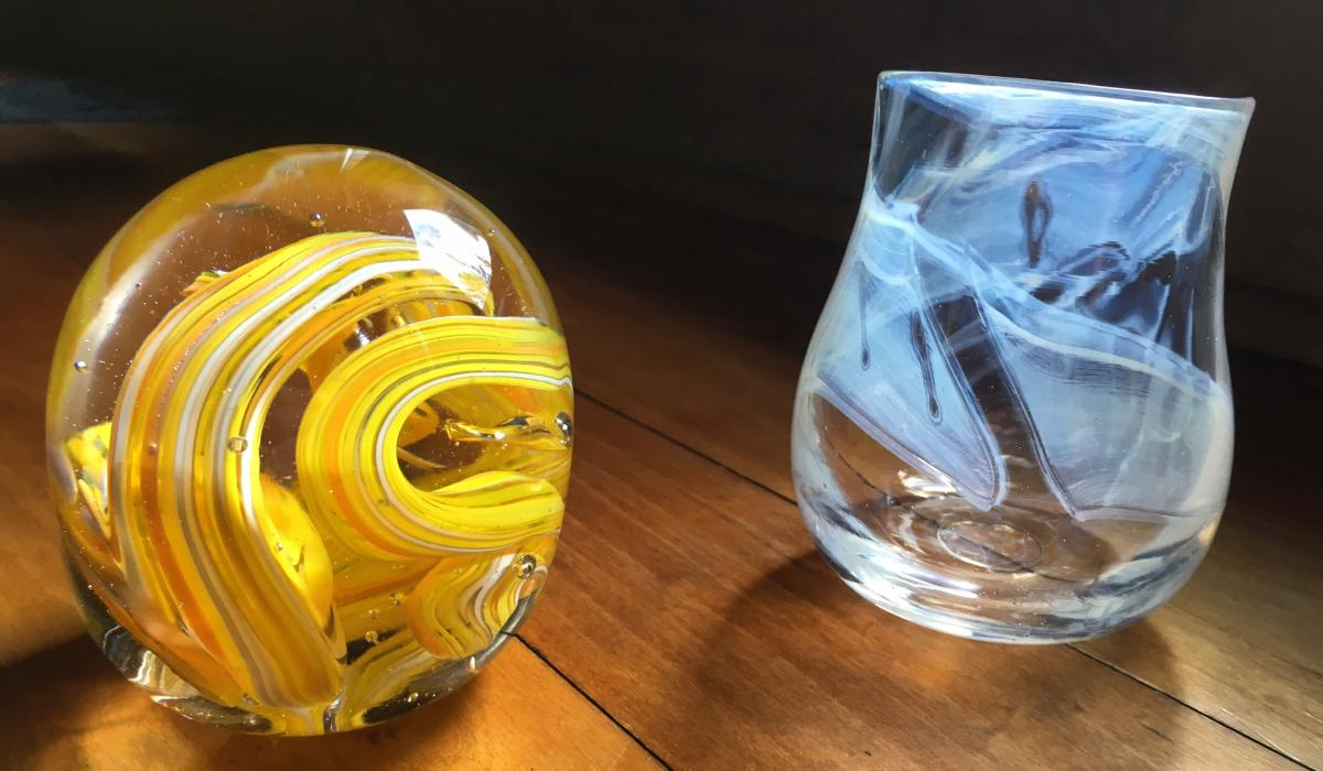 Here are examples of what you will make in our glassblowing workshop