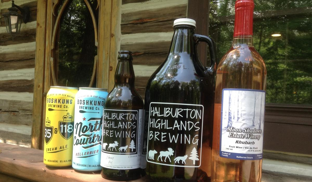 Beer and wine tasting in the Haliburton Highlands