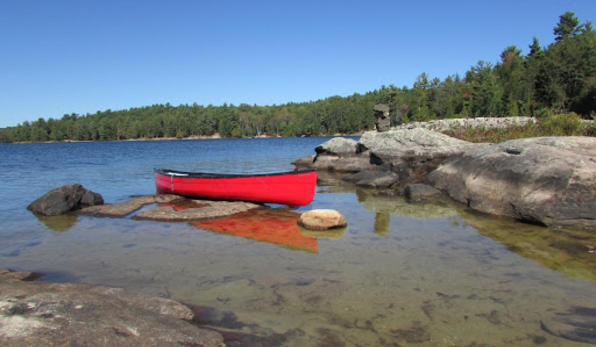 Guided canoe and hike at silent lake provincial park ontario
