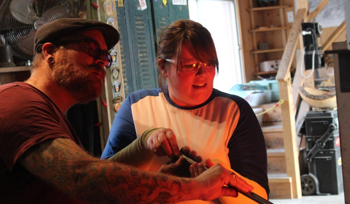 A glassblowing adventure in the Haliburton Highlands, Ontario, Canada