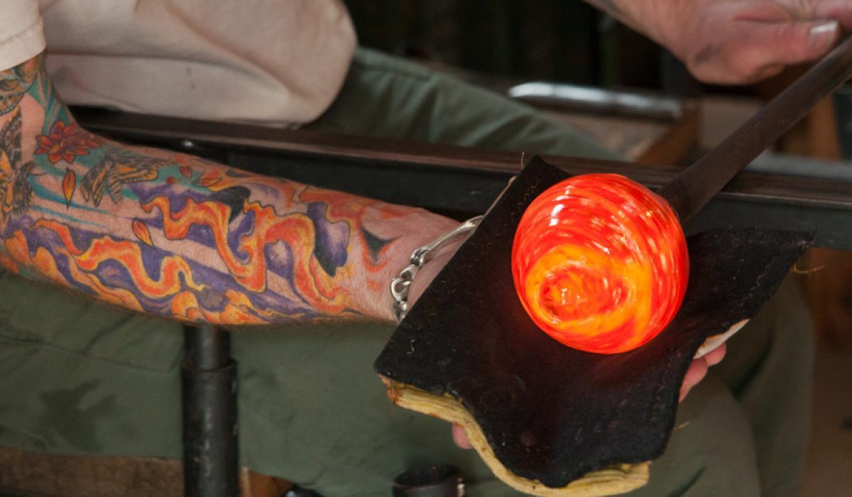 art, glass blowing, buy local, art, Haliburton