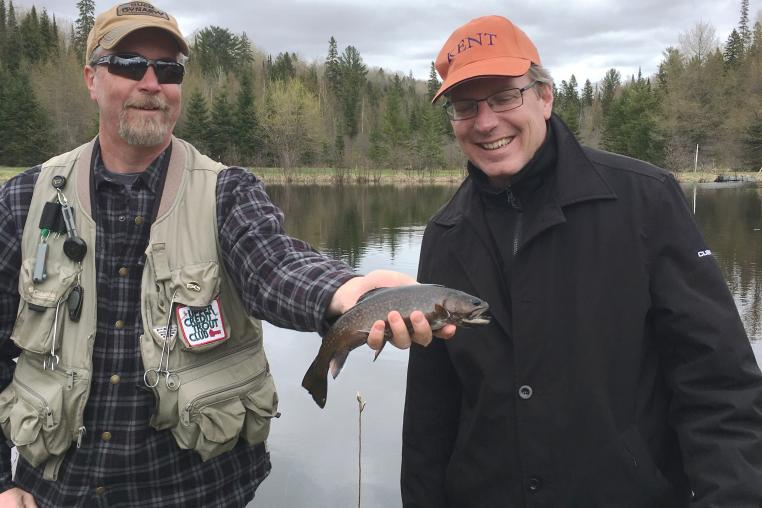Fly fishing in the Haliburton Highlands