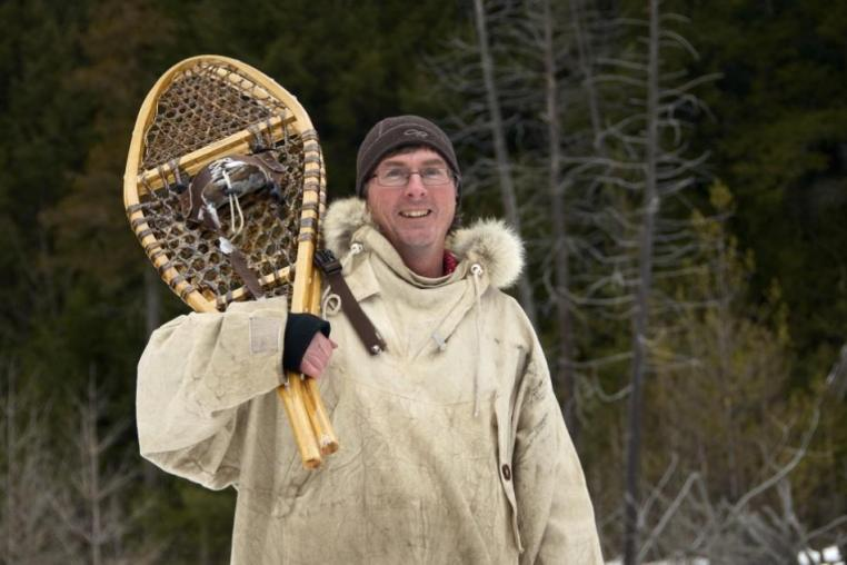 Kevin Callan with Snowshoes