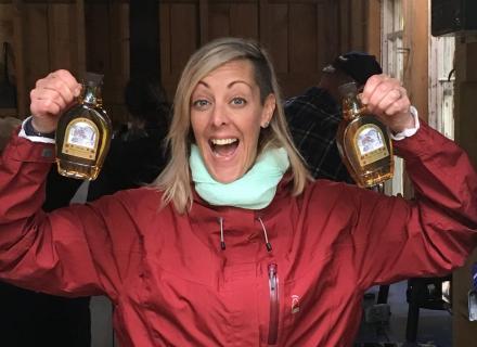 Taste sweet syrup in the Haliburton Highlands