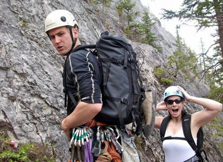 Rock climbing  in the Haliburton Highlands