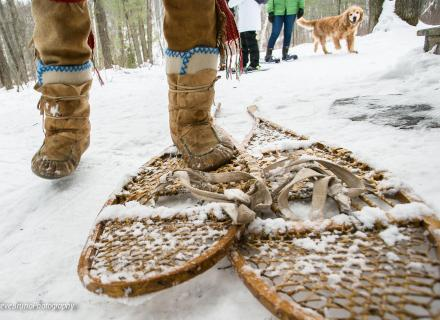 snowshoes, snowshoeing, winter travel , Haliburton